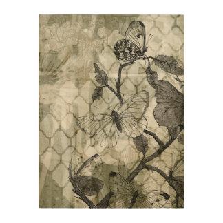 Impression Sur Bois Papillons d'arabesque II