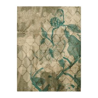 Impression Sur Bois Papillons d'arabesque VI