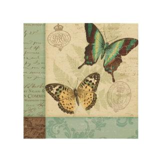 Impression Sur Bois Papillons jumeaux