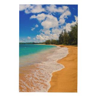 Impression Sur Bois Paradis tropical de plage, Hawaï