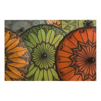 Impression Sur Bois parasols à vendre, bagan, myanmar