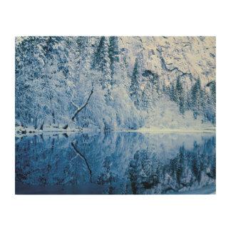 Impression Sur Bois Parc national de la rivière | Yosemite de Merced,