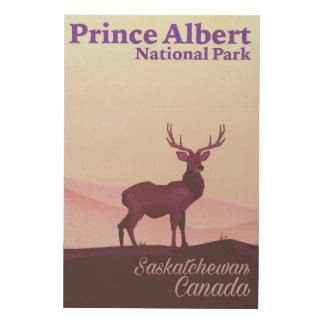 Impression Sur Bois Parc national de prince Albert, Saskatchewan,
