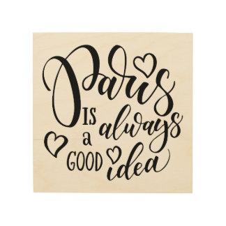 Impression Sur Bois Paris est toujours un bon manuscrit d'idée