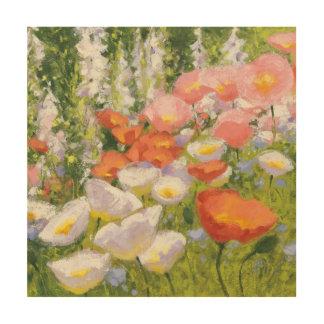 Impression Sur Bois Pastels de jardin