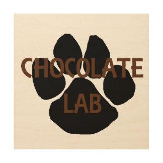 Impression Sur Bois patte de méga de nom de laboratoire de chocolat