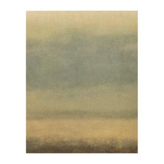 Impression Sur Bois Paysage abstrait avec le ciel obscurci