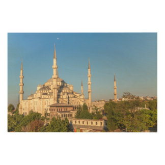 Impression Sur Bois Paysage bleu de mosquée