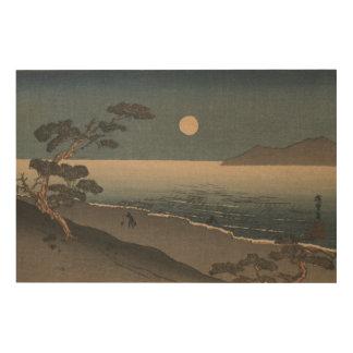 Impression Sur Bois Paysage japonais de soirée de bois de graveur