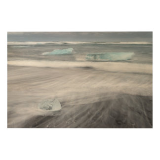 Impression Sur Bois Paysage marin approximatif avec de la glace,