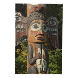 Impression Sur Bois Pêcheur sur le totem Polonais, Alaska