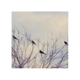 Impression Sur Bois Peinture à l'huile d'oiseaux Digital, copie en