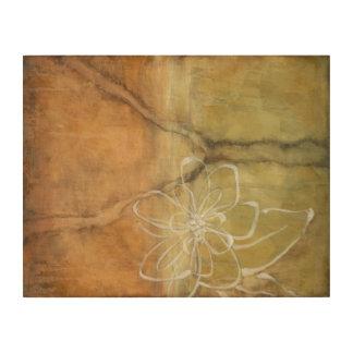 Impression Sur Bois Peinture abstraite de silhouette sur l'arrière -