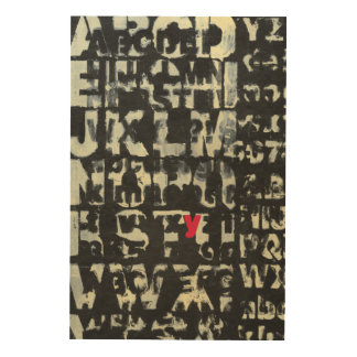 Impression Sur Bois Peinture d'alphabet par le Normand Wyatt