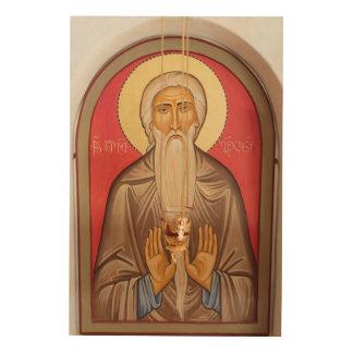 Impression Sur Bois Peinture d'un saint plus âgé