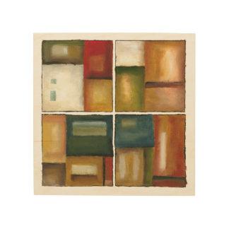 Impression Sur Bois Peinture lambrissée par quatre par Jennifer