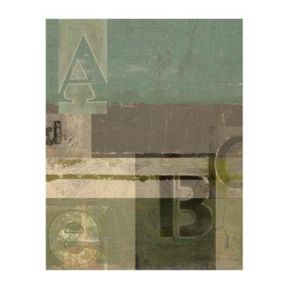 Impression Sur Bois Peinture moderne avec les lettres assorties
