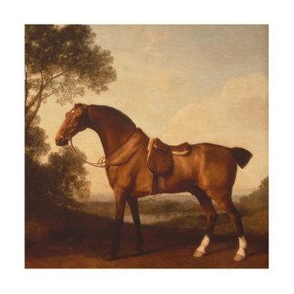 Impression Sur Bois Peinture vintage de chasseur de baie par George