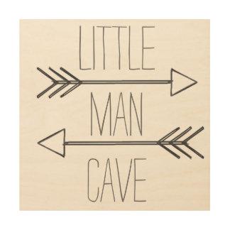 Impression Sur Bois petit signe de caverne d'homme