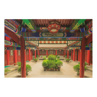 Impression Sur Bois Petit temple sauvage d'oie, Chine