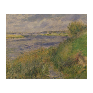 Impression Sur Bois Pierre banques de Renoir un   de la Seine,