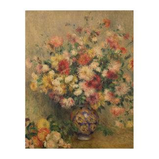 Impression Sur Bois Pierre dahlias de Renoir un  