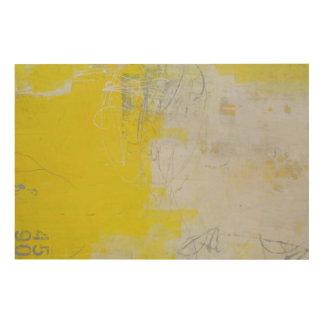 Impression Sur Bois Pierre jaune