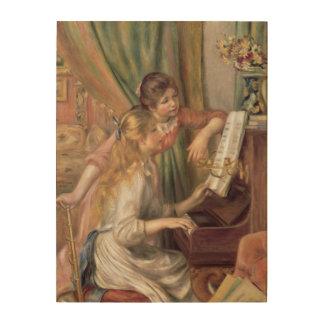 Impression Sur Bois Pierre jeunes filles de Renoir un   au piano