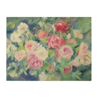 Impression Sur Bois Pierre roses 2 de Renoir un  
