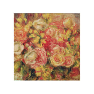 Impression Sur Bois Pierre roses de Renoir un  