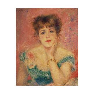 Impression Sur Bois Pierre un portrait de Renoir   de Jeanne Samary