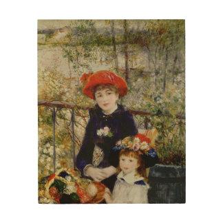 Impression Sur Bois Pierre un Renoir | deux soeurs, ou sur la terrasse