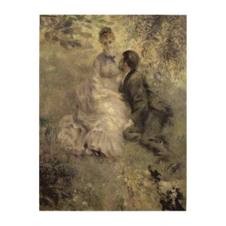 Impression Sur Bois Pierre un Renoir   les amants