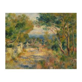 Impression Sur Bois Pierre un Renoir   L'Estaque