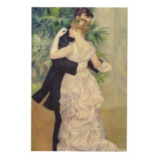 Impression Sur Bois Pierre une danse de Renoir   dans la ville