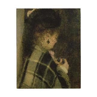 Impression Sur Bois Pierre une jeune femme de Renoir   avec un petit