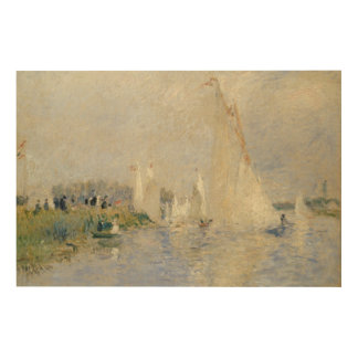 Impression Sur Bois Pierre une régate de Renoir   à Argenteuil