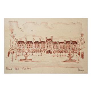 Impression Sur Bois Placez DES VOSGES | Marais, Paris