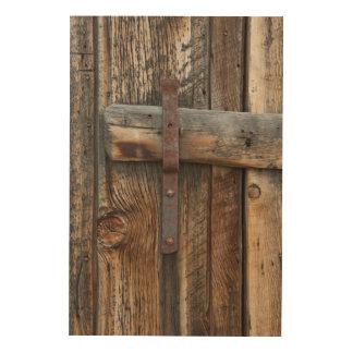 Impression Sur Bois Plan rapproché en bois de porte, la Californie