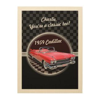 Impression Sur Bois Plaque classique en bois de Cadillac