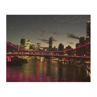 Impression Sur Bois Pont Brisbane Australie d'histoire