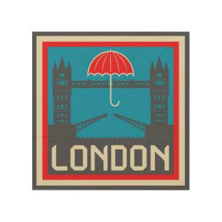 Impression Sur Bois Pont de Londres avec le parapluie