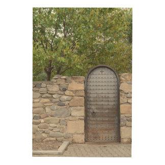 Impression Sur Bois Porte et mur en métal