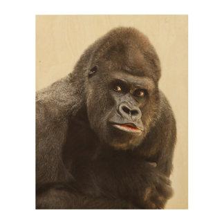 Impression Sur Bois Portrait de gorille de Silverback