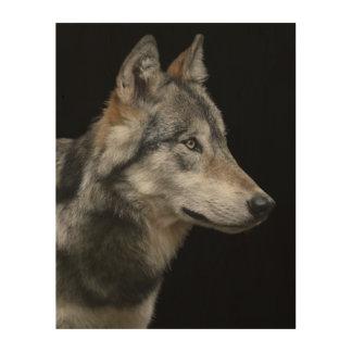 Impression Sur Bois Portrait de loup