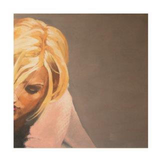 Impression Sur Bois Portrait d'une lecture de femme