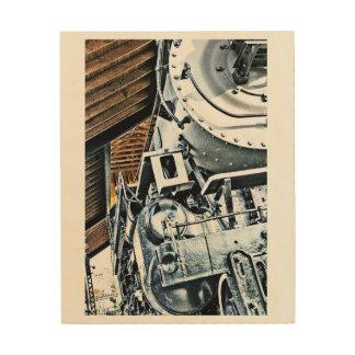 Impression Sur Bois Portrait locomotif vintage de mur
