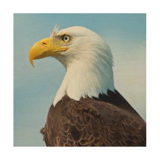 Impression Sur Bois Profil d'Eagle chauve