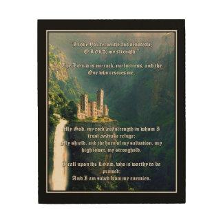 Impression Sur Bois Psaumes 8 - Le seigneur est ma roche
