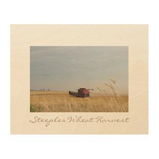 Impression Sur Bois Récolte de blé de Steeples